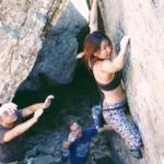 the North Face Pulse Capri climbing