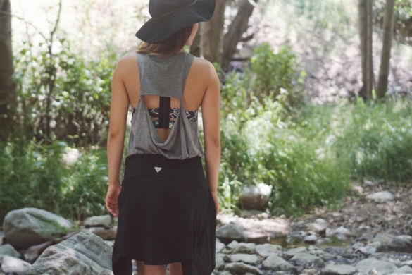 Wear a dress to go hiking