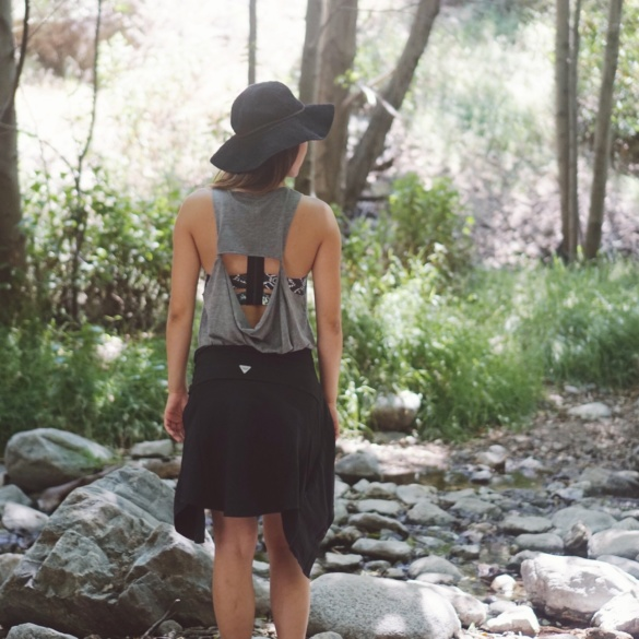 Wear a dress to go hiking